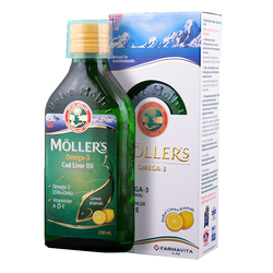 MÖLLERS OMEGA-3 Рыбий жир Меллер со вкусом лимона. - Thumbnail