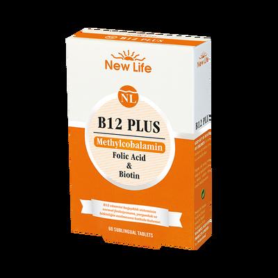 NEWLIFE ВИТАМИН B12 PLUS & ФОЛИЕВА КИСЛОТА & БИОТИН 60 таблеток под язык