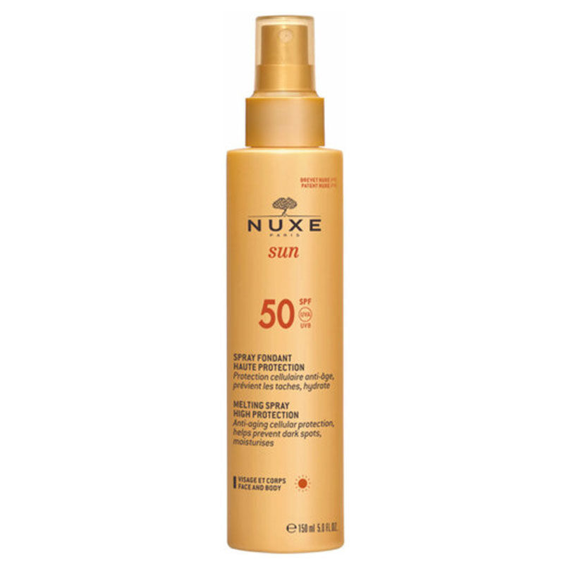 Nuxe Sun солнцезащитный спрей SPF 50+.