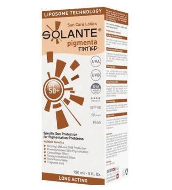 SOLANTE Солнцезащитный крем Тонированный от пигментных пятен 50+.