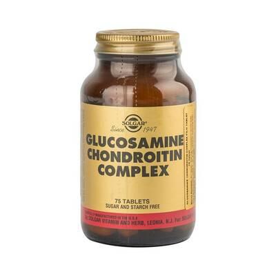 SOLGAR GLUCOSAMINE CHONDROITIN COMPLEX 75 TABLET