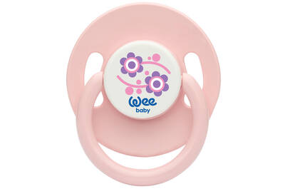 WEE BABY ROUND TEAT PACIFIER (18+ MONTHS)