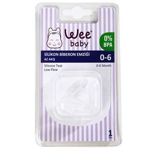 WEE BABY SILICONE BOTTLE PACIFIER (0-6 MONTHS)