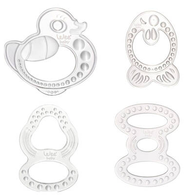 WEE BABY SILICONE TEETHING RING